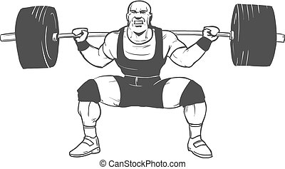 hombre, powerlifting, rechoncho