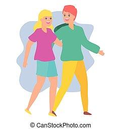 Hombre y mujer abrazando pareja feliz