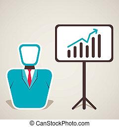 Hombres con crecimiento de negocios