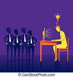 Hombres con un nuevo concepto de negocios
