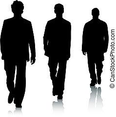 Hombres de moda silueta
