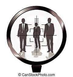 Hombres de negocios apuntan