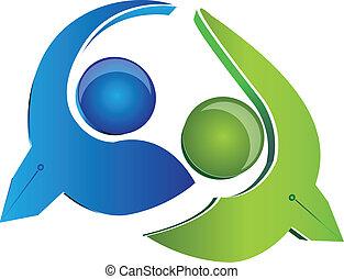 Hombres de negocios del equipo logo vector