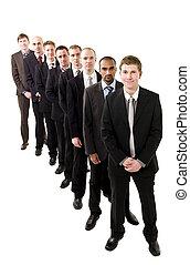 Hombres de negocios en línea