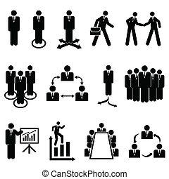 Hombres de negocios, equipos y trabajo en equipo