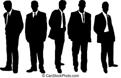Hombres de negocios informales