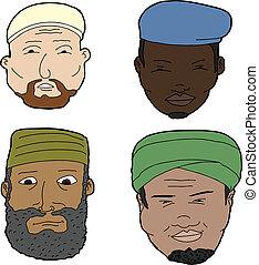 Hombres musulmanes con barba
