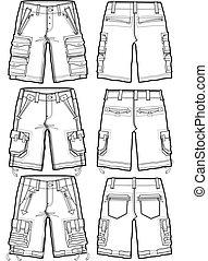 Hombres shorts de carga