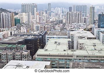 Hong Kong en el centro del distrito Kowloon