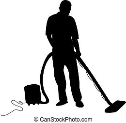 hoovering, hombre