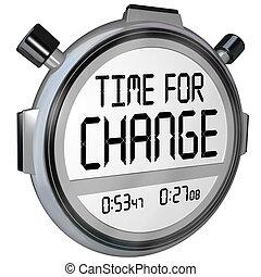 Hora de cambiar el reloj de reloj de reloj