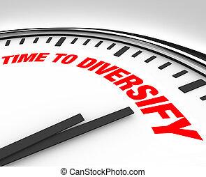 Hora de diversificar el reloj, administrar el riesgo de inversión