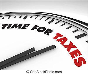 Hora de impuestos, reloj