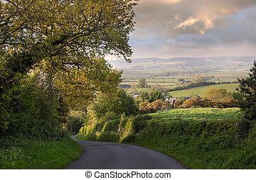 Hora de la noche, Inglaterra rural