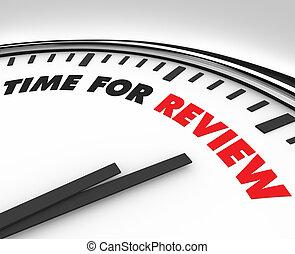 Hora de la revisión, reloj