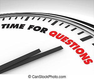 Hora de las preguntas, reloj