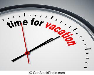 Hora de las vacaciones
