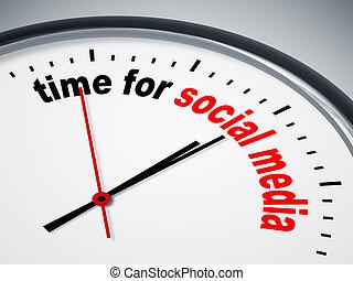 Hora de los medios sociales