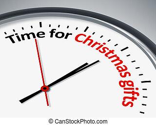 Hora de regalos de Navidad