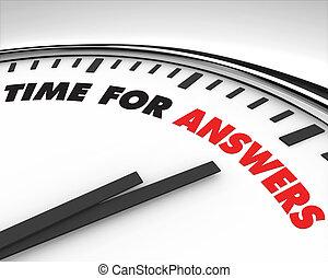 Hora de respuestas, reloj