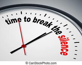 Hora de romper el silencio