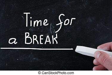 Hora de un descanso