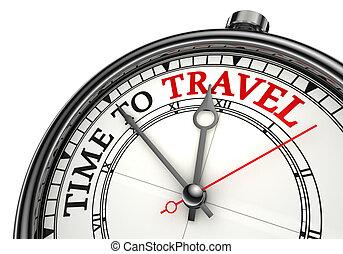 Hora de viajar al reloj de concepto