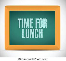 Hora del almuerzo de diseño de ilustraciones