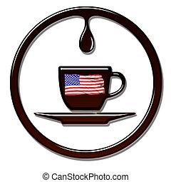 Hora del café americano.