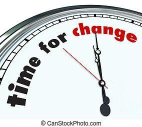 Hora del cambio - reloj ornativo