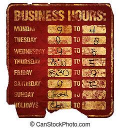 horas, degraded, empresa / negocio