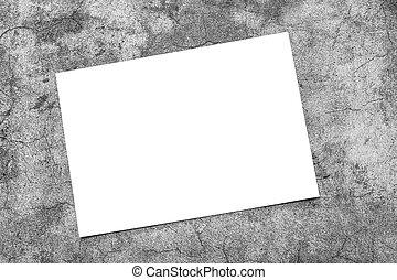 horizontal, gris, mockup, fondo., vacío, cartel, blanco, rectángulo