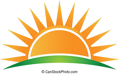 Horizonte solar Vector