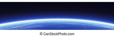 Horizonte y pancarta mundial
