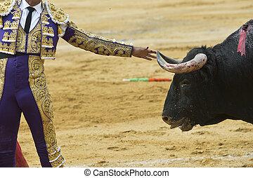 horn., bull´s, torero, conmovedor
