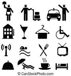Hotel y icono de la hospitalidad