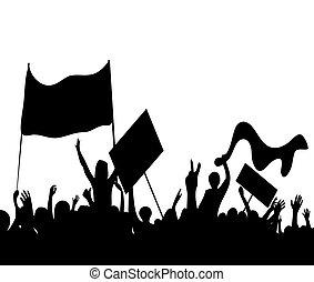 huelga, protesters, trabajadores, alborotos
