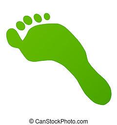huella, verde