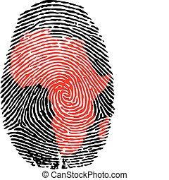 Huellas de dedos de África