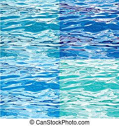 Huellas de la superficie de agua inservibles