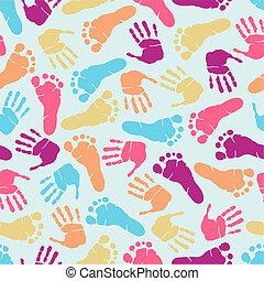 Huellas de mano sin marcas