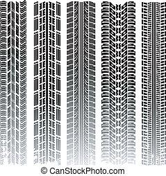Huellas de neumáticos del vector