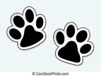 Huellas de patas de mascota