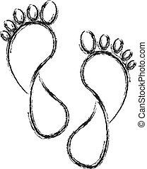 Huellas de pies