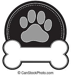 hueso de perro y pata