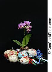 Huevos de Pascua adornados a mano