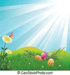 Huevos de Pascua coloridos de Pascua