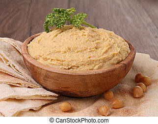 Hummus y pita