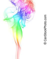 Humo de arco iris elegante