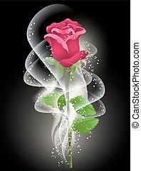 humo, rosa